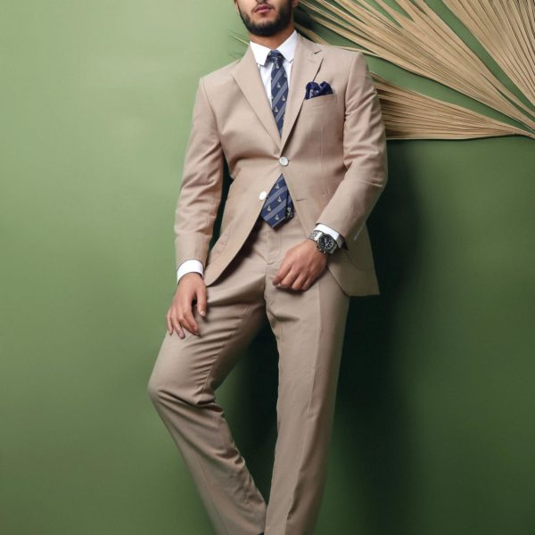 Ready when you are | beige suit .