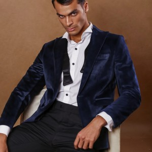 Dark navy velvet jacket