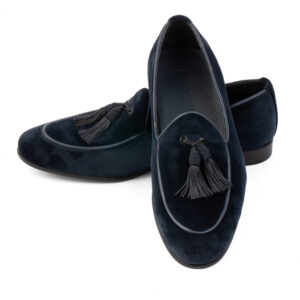 Dark navy belgain loafers