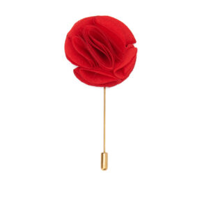 Flower Lapel Pin with Gold Metal
